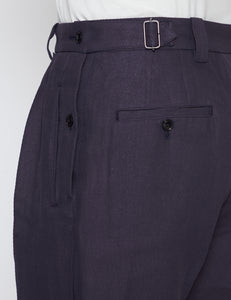 NAVY PAPER KERSEY FRENCH GURKHA TROUSERS