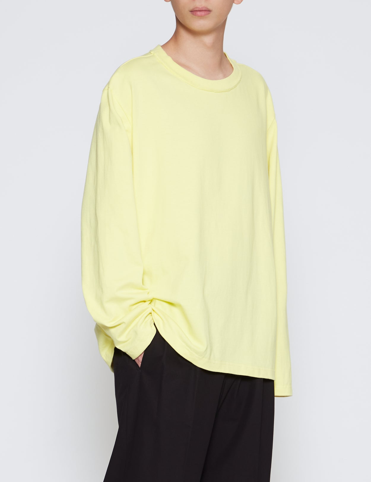 YELLOW OVERSIZED LONG SLEEVE T-SHIRT