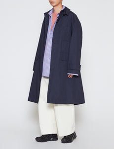 DARK NAVY TECHNICAL CAR COAT