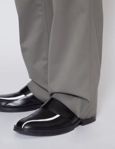 WASHED SAGE TAILORED MILITARY WOOL PANTS
