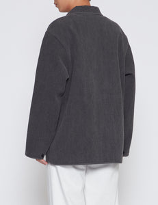 BLACK ASH NUBI OVER SHIRT