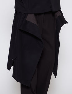 BLACK THREE WAYS BAL COLLAR SHARE COAT
