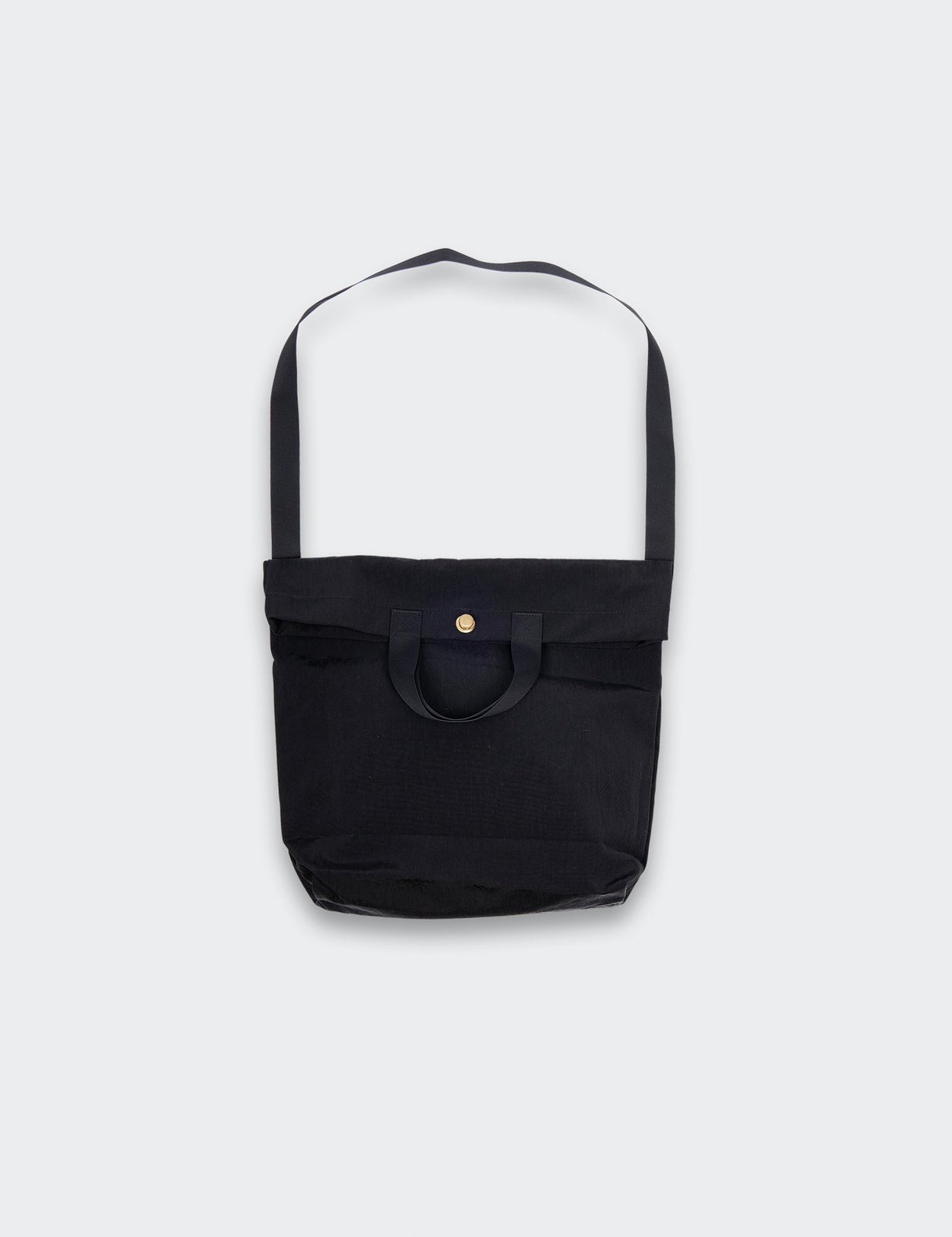 BLACK MULTI HANDLE CANOPY NYLON TOTE