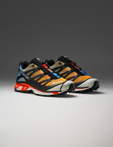 SALOMON ADVANCED ORANGE AND BLUE XT-4 ADV SNEAKERS