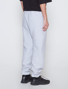 GREY CROSS KNIT HEAVYWEIGHT SWEATPANTS
