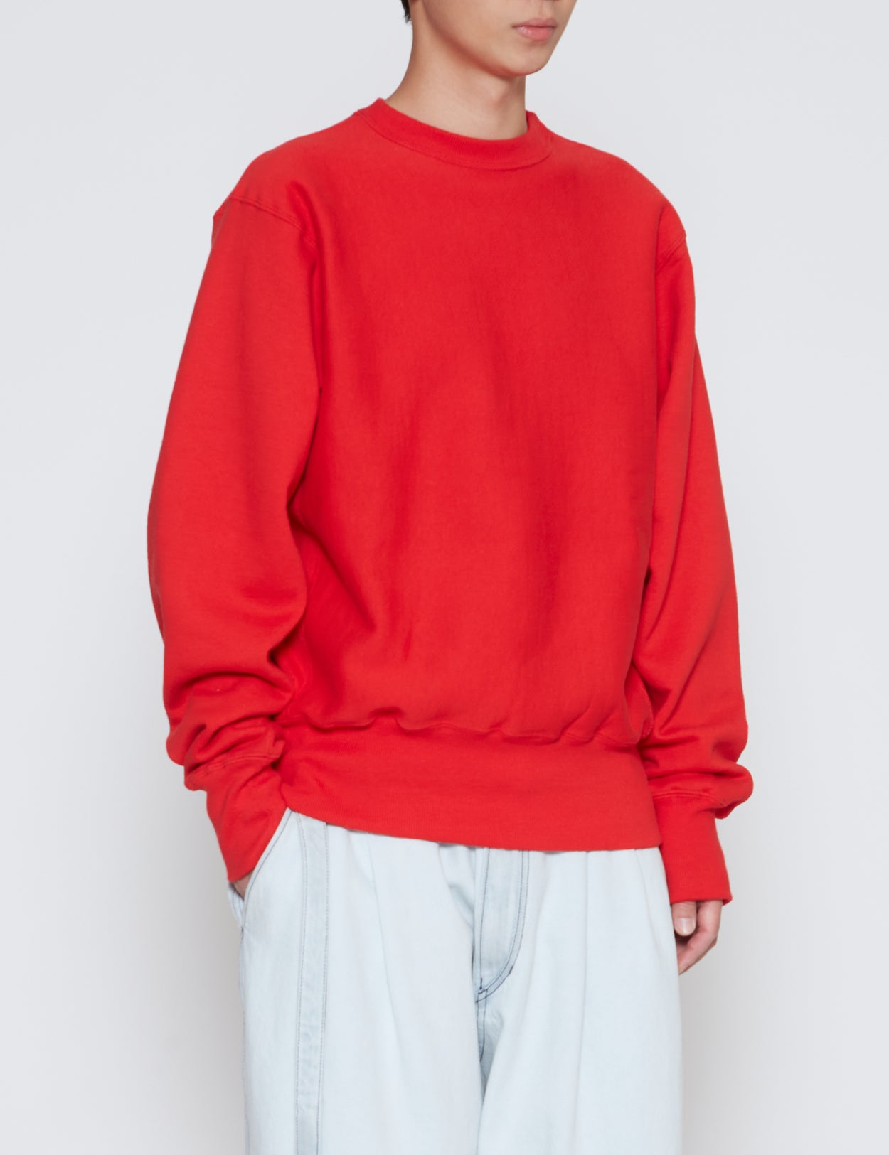 RED CROSS KNIT HEAVYWEIGHT CREWNECK SWEATSHIRT