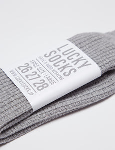 GREY COTTON THERMAL waffle SOCKS