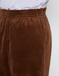 BROWN CORDUROY CU CU PANTS
