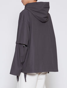 DARK TAUPE OVERSIZED DIVIDED SLEEVES ANORAK