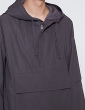 Load image into Gallery viewer, DARK TAUPE OVERSIZED DIVIDED SLEEVES ANORAK