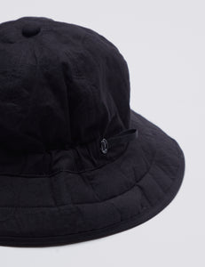 BLACK SIX PANEL PARAFFIN WAX COATED HAT