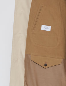 BEIGE COTTON CHINO TWILL BALMACAAN COAT