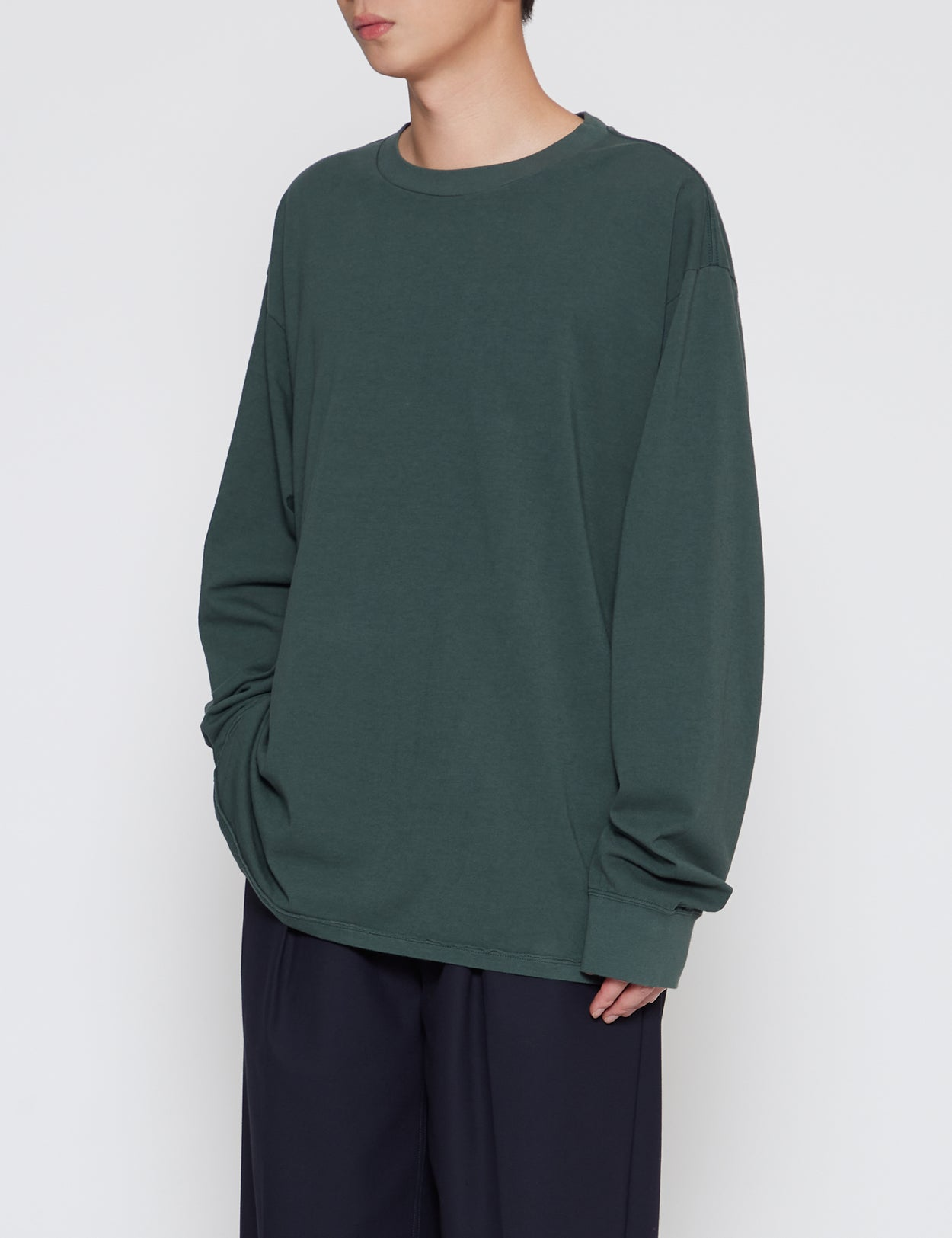 GREEN LONG SLEEVE T-SHIRT