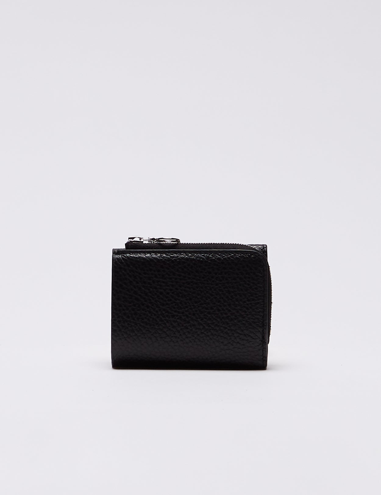BLACK Grained cow leather MINI WALLET TYPE A PG37