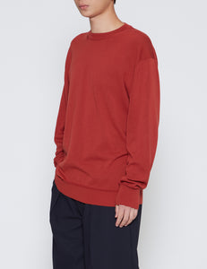 RED CREWNECK KNIT SWEATER