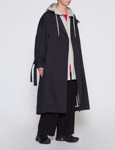 NAVY CANVAS COAT