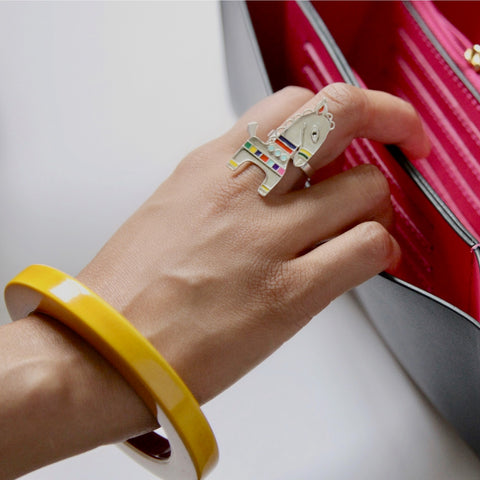 Craft Stories bankura ring and lacquered bangle