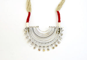 Bahati half-round pendant necklace with granulation work - Craft Stories