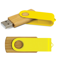 Bamboo Swivel USB Flash Drive