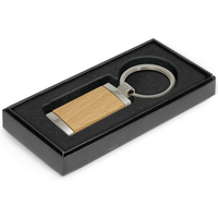 Natural Wood Key Ring
