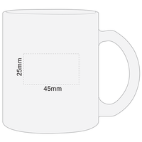 Frosted Glass Mug