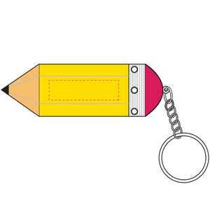 Pencil Stress Shape Keyring