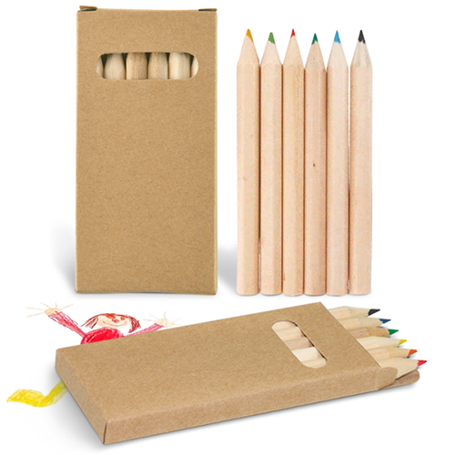 Pencils in Cardboard Box