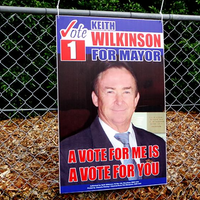 Plastic Election Sign