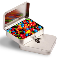 Confectionery Filled Rectangular Tin