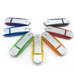 Brushed Metal and Plastic USB Flash Drive