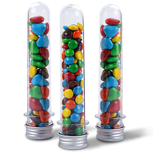 Test Tube Filled with Confectionery