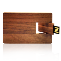 Wooden Credit Card Style USB Flash Drive