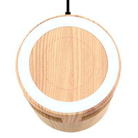 Woodgrain Wireless Charging Pad & Speaker