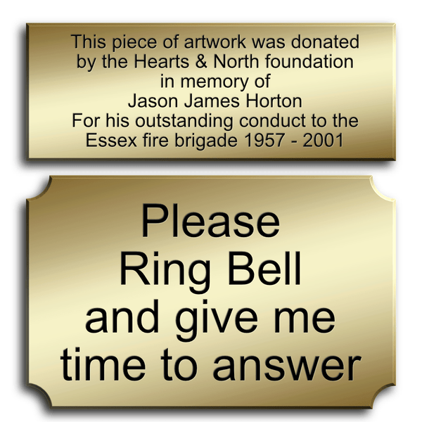 Lacquered Brass Plaques and Signs - The Engraving Store