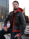 Arkham Knight Red Hood Leather Jacket