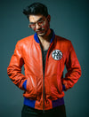 Dragon Ball Z Goku Bomber Leather Jacket