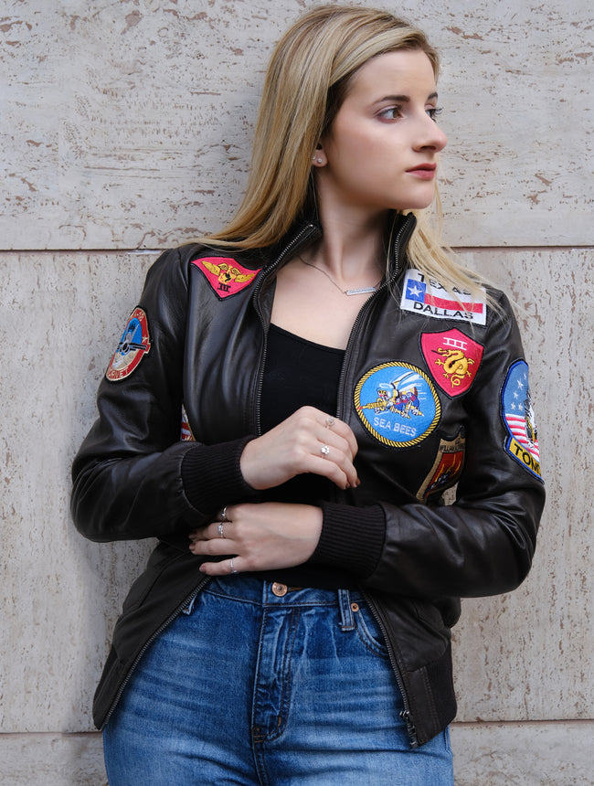 Tom Cruise Top Gun Leather Jacket for Womens