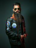 Mens Flight Leather Jacket