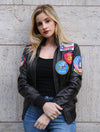 Womens Top Gun Bomber Leather Jacket