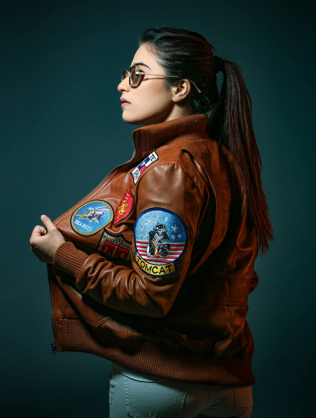 Top Gun Tan Brown Jacket