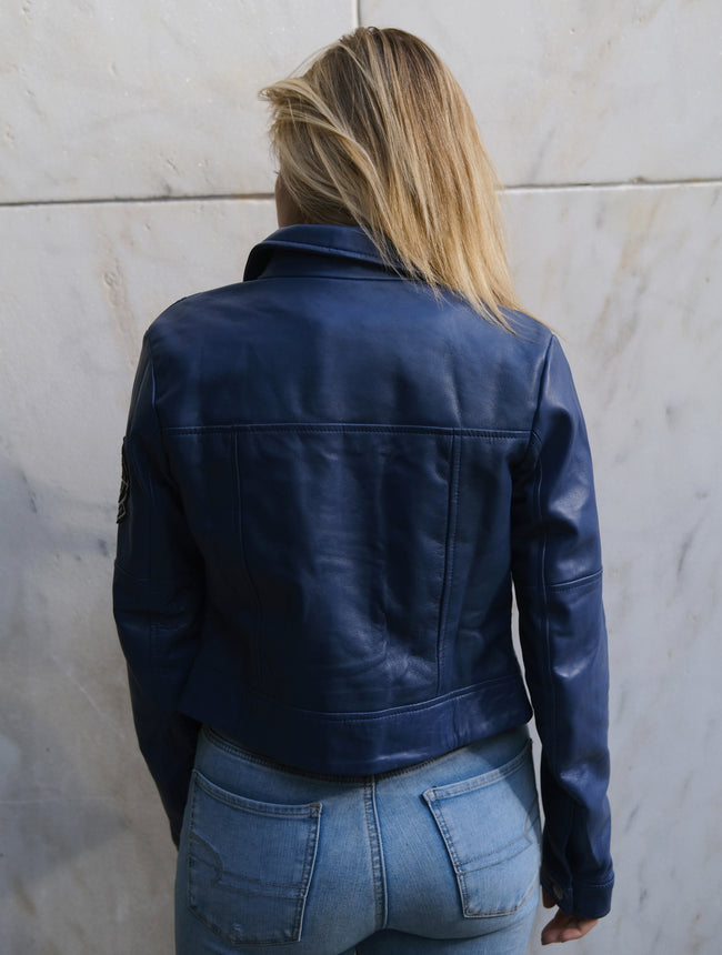 Womens Capsule Corp Leather Jacket