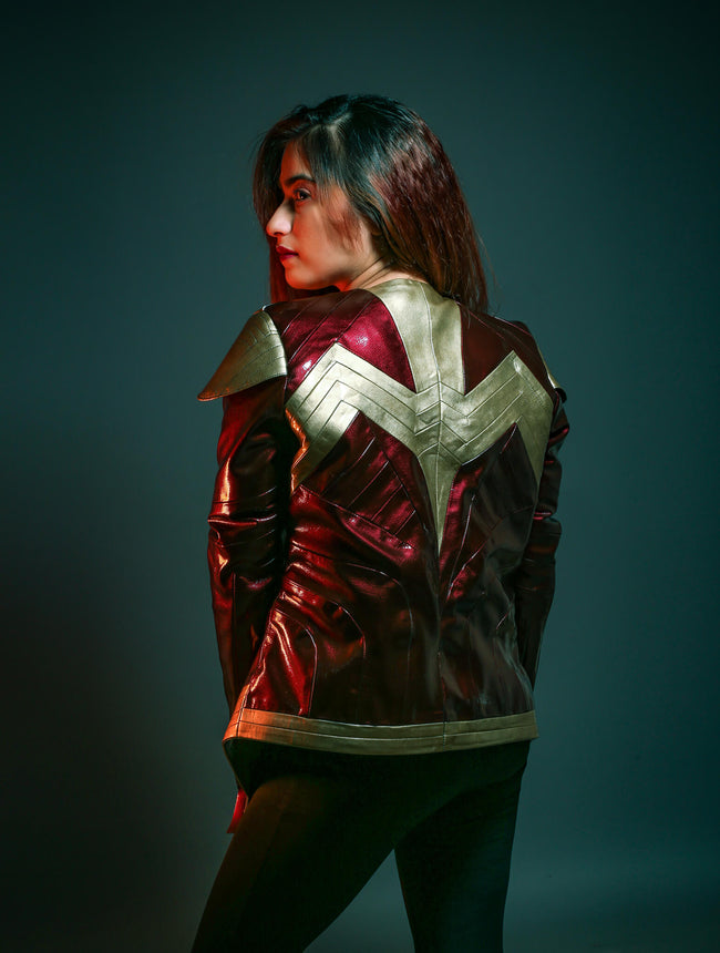 Wonder Woman Red Leather Jacket