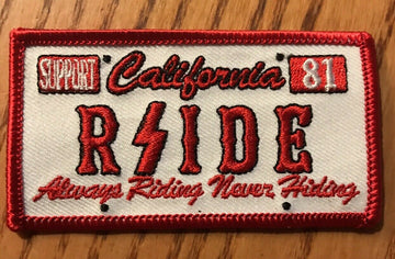 "Hells Angels RSIDE - RSIDE ""License Plate"" Support Patch"