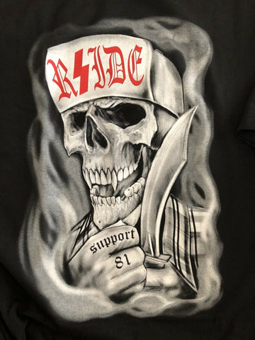 Hell's Angels RSIDE -Skull with Knife