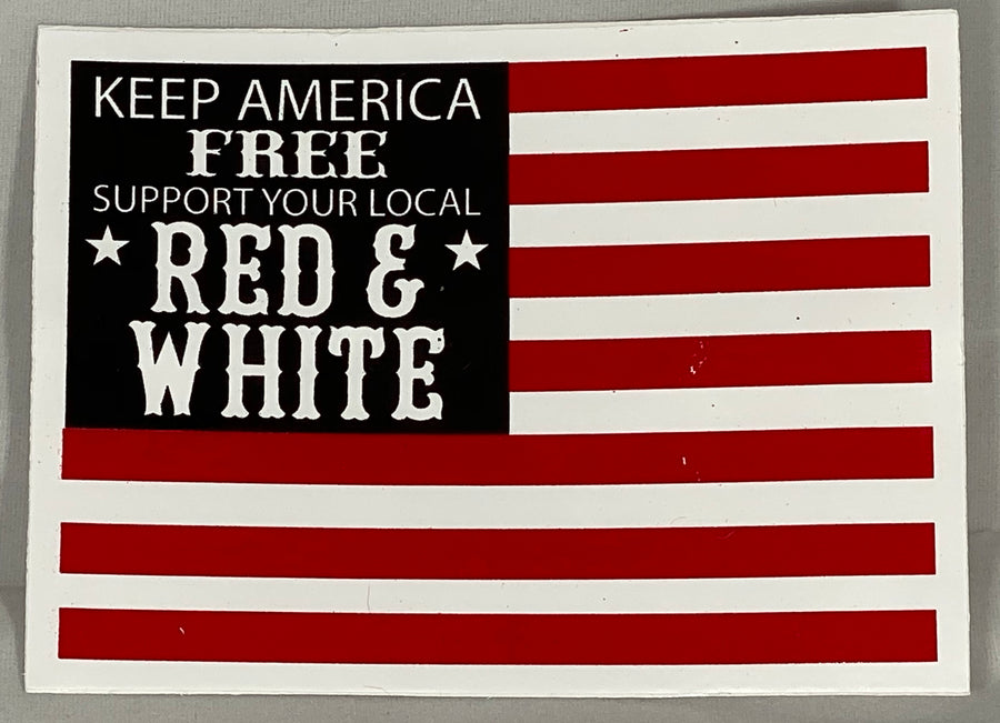 Keep American free support sticker