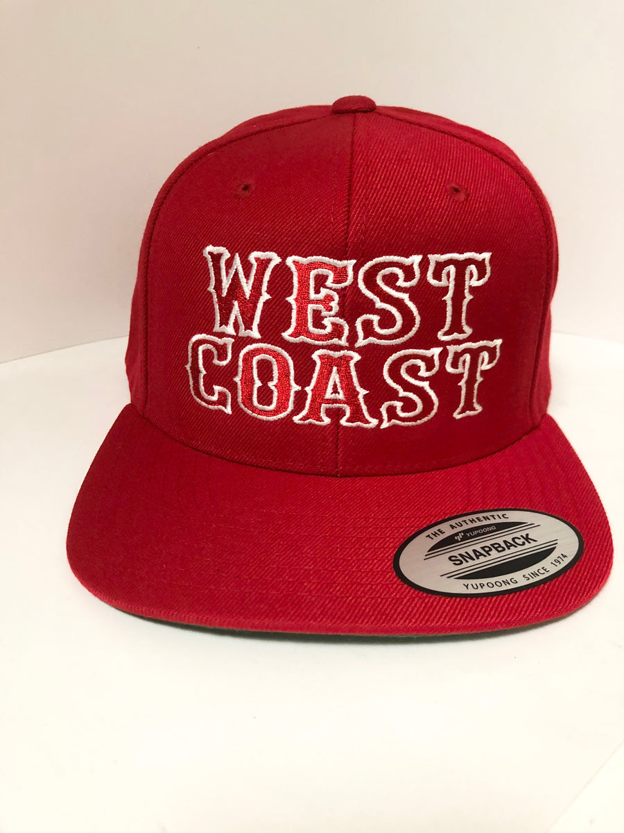 Hells Angels red West Coast support snapback