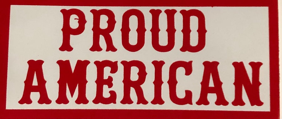 Proud American sticker #109