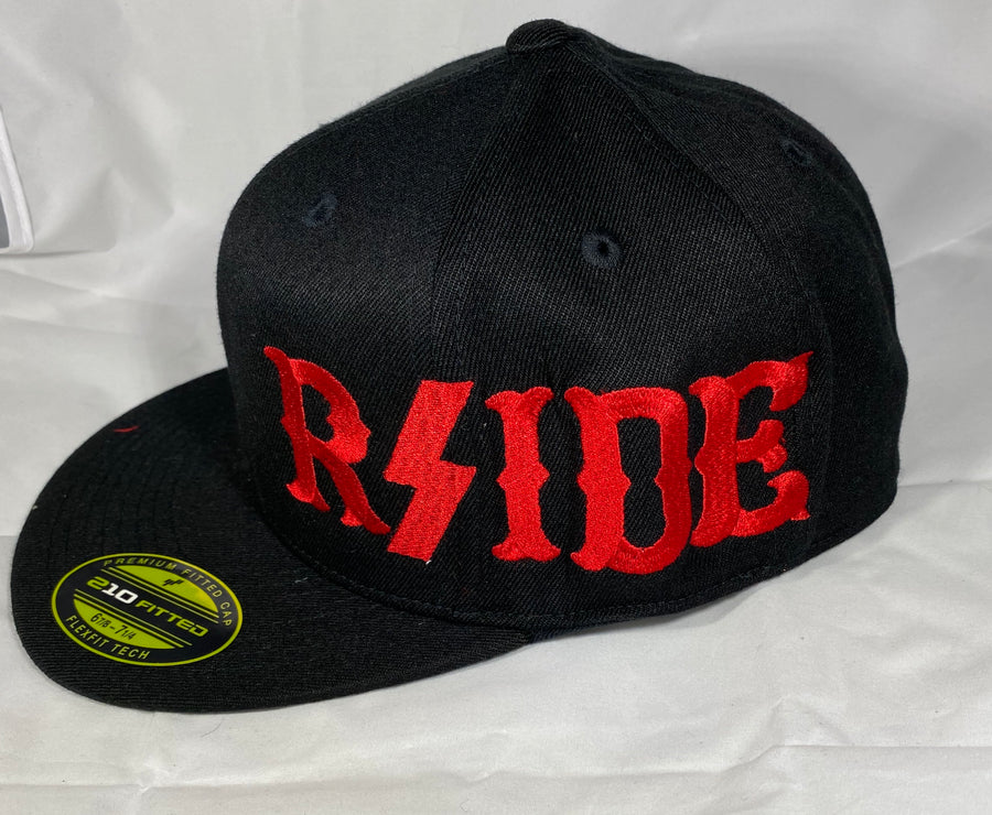 Hells Angels - Black w/Red RSIDE Flex Fit Hat