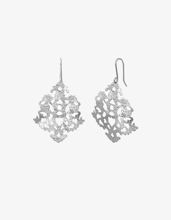 Lindi Kingi Solaris Sunflake Earrings - Silver