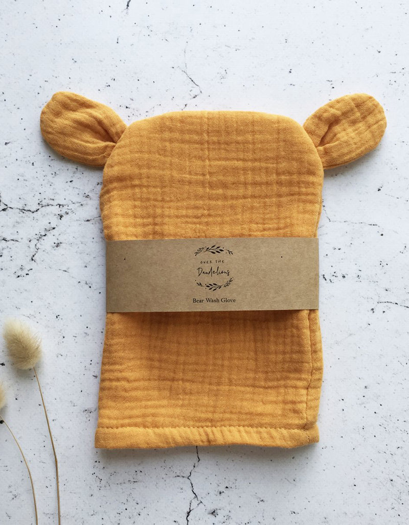 Over The Dandelions Bear Wash Glove